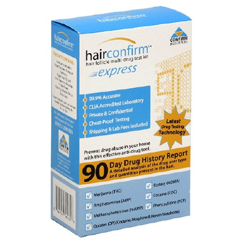 Hair Confirm Hair Follicle Multi-Drug Test Kit, Express, 1 kit