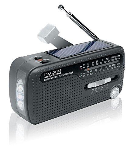 Muse MH-07DS tragbares Kurbel-Radio, Weltempfänger mit...