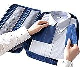 iSuperb Multi-function Shirt Organizer Travel Tie Storage Pouch Luggage Packing waterproof Bag for Men (Dark Blue)