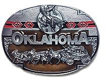 Oklahoma State 3-D Enamel Pewter Belt Buckle