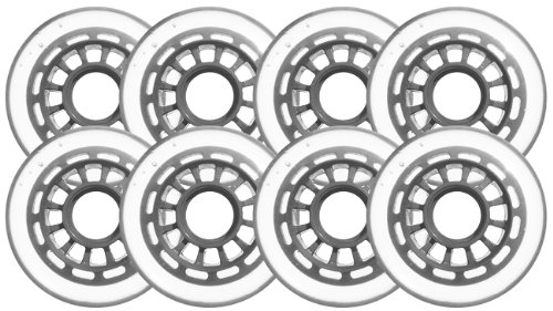 Clear Silver Inline Skate Wheels 78mm 78a 8 Pack