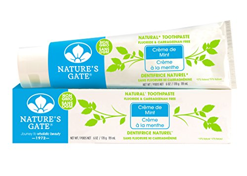 Nature's Gate Natural Toothpaste, Herbal Creme de Mint, 6-Ounce Tubes (Pack of 6)