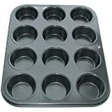 12 Hole Deep Muffin Pan / Tin Non Stick Baking Trayby Lets Bake
