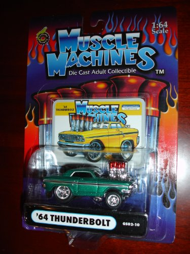 Muscle Machines 64 Thunderbolt Metallic Kelly Green