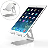 MoKo Universal 210 Degree Rotatable Solid Aluminum Alloy Metal Mobile Phone Tablet Desktop Stand Holder Cradle for iPad mini 4, iPhone 6s, 6s Plus and Other Tablets, SILVER