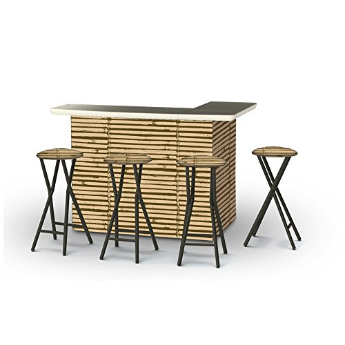 Best-of-Times-Portable-Patio-Bar-Table-with-Stools-Luau-Tiki
