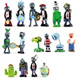 16 X Plants Vs Zombies Toys Series Game Role Figure Display Toy PVC Gargantuar Craze Dave Dr. Zomboss