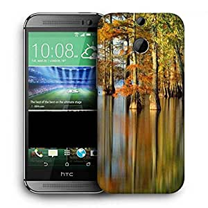 Snoogg Water In Forest Printed Protective Phone Back Case Cover For HTC One M8