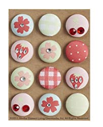 Martha Stewart Crafts Vintage Girl Fabric Brads
