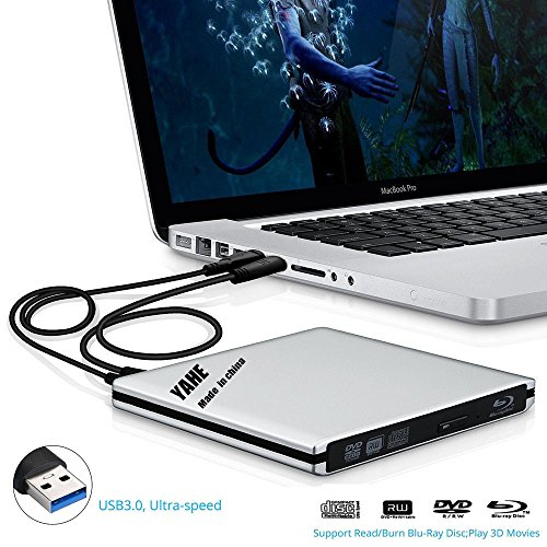 USB 3.0 Blu-ray Disc Player, External CD-RW/DVD-RW Reader&Burner Drive Combo External ODD Device with 2 USB Cables for Macbook Pro Air or Other Windows PC Laptop/Desktops (Imac Cleaning Software compare prices)