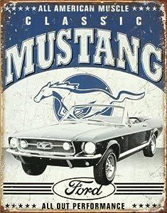 Ford Classic Mustang retro blechschild (ga)
