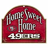 "NFL San Francisco 49ERs 10-by-11 inch Wood ""Home Sweet Home"" Sign at Amazon.com"