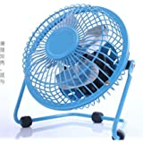 "Totoo 4"" Quiet USB Mini Desktop Fan Plug and play USB Ventilator 360 Rotate Metal Mini Fan Portable Cooler Cooling Desktop Power PC Laptop Desk Fan with ON/OFF Switch"