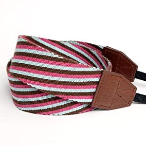 Ciesta CSS-F38-024 Fabric Camera Strap (Choco Purge) for Toy Camera DSLR Mirrorless Camera