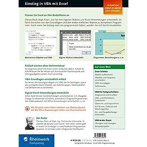 Einstieg in VBA mit Excel: Für Microsoft Excel 2007 bis 2016