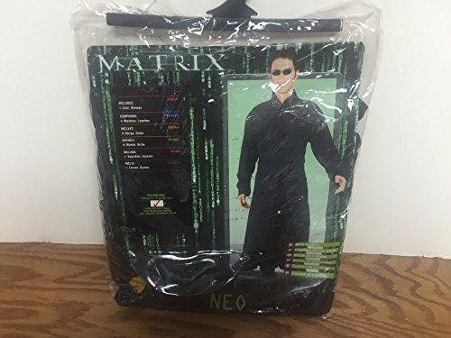 Neo MATRIX Halloween Costume (Adult Men's) Jacket size 44 with Glasses (The Matrix Neo Costume)
