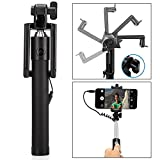 #4: Selfie Stick, Sumaclife Aux Selfie Stick Wired Foldable Mini Monopod with Rubber grip for Android Smartphones and iPhones (Multi-colour)