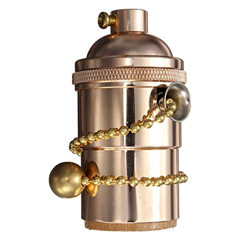 Hanging Lamp With Pull Chain: KINGSO E26/ E27 Solid Brass Industrial Light Socket