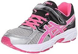 ASICS Pre Contend 3 PS Running Shoe (Little Kid/Little Kid), Silver/Hot Pink/Black, 10 M USLittle Kid