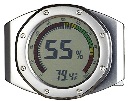 Visol UltraModern Circular Digital Hygrometer - 1