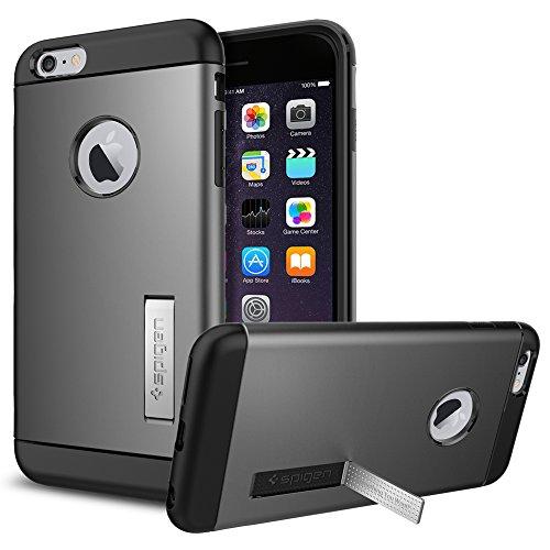 iPhone 6 Plus ケース Spigen スリム アーマー Apple iPhone (5.5) (国内正規品) (ガンメタル SGP10905)