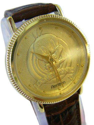 Brown Leather Classic Tweety Bird Watch – Adult Tweety Watch
