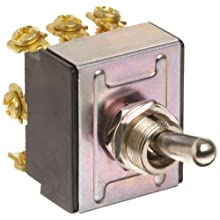 "Morris Products 70302 Toggle Switches, 3 Pole, On/On, 1.09"" Width, 1.31"" Length, 0.80"" Height"