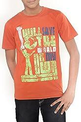 Menthol Boys Eco-Series Organic Cotton Tshirt (11-12 Years, Oakwood)