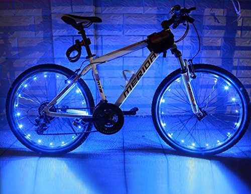 Wheelight® 20 Super-Bright LED Bicycle Lights for Spokes and Frames in Five Colors (Blue)
