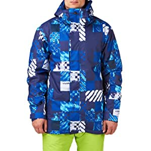 Snow Jacket Men Quiksilver Mission 10K Aop Atom Jacket