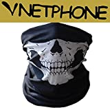OnairMall® Motorcycle Skull Mask / Wear Headgear Neck Warmer Cycling Goggles Bandana Balaclava Half Ski Skiing Winter Store Shop Item Stuff Protective Hannibal Cheap Skeleton Scary Funny Unique Mouth Full Motorbike Vespa Scooter Riding Biker Rider Fahsionable Fashion Facial Anti Dust Wind Head Wear Hat Scarf Face Cap Cover Cool Helmet Clothing Apparel Clothes Face Black Accessories Gear Part Tool Stuff Supplies Gadgets Men Women Kid Children Bike Decor