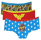 DC Comics Wonder Woman 3 Pack Hipster Briefs for women