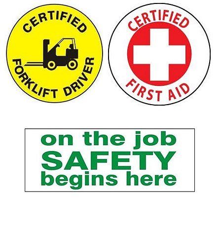 3 Safety Hardhat Stickers Mix SS1