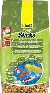 Tetra 757431 Pond Sticks, Hauptfutter für alle Gartenteichfische in Form von schwimmfähigen Sticks, 50 L