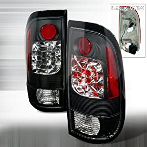 1997-2003 Ford F150, 1999-2007 Ford F250, 1999-2007 Ford F350 Led Tail Lights Black