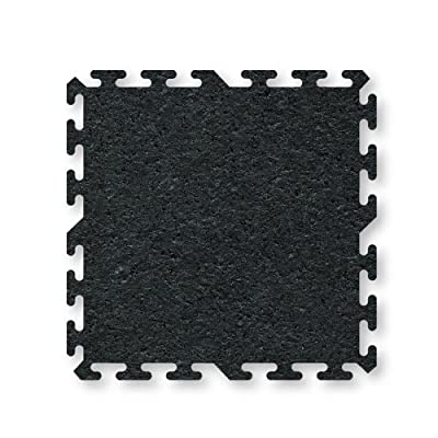 ProImpact Interlocking Rubber Flooring (2 Pieces), Black, 36 x 36 x 8mm