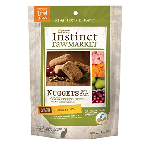 Nature's Variety Instinct Raw Market Grain Free Freeze Dried Chicken Recipe Nuggets for Cats, 2 oz. Trial Size Bag (Instinct Dehydrated Dog Food compare prices)
