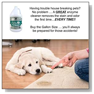 BUBBAS, Super Strength Commercial Enzyme Cleaner-Pet Odor Eliminator. Gallon Size Enzymatic Stain Remover-Remove Dog-Cat Urine Smell From Carpet, Rug Or Hardwood Floor And Other Surfaces. 128 FL OZ