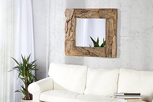 Design Wandspiegel SANDS 50cm Treibholz rechteckig in Holz Farben