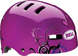 Bell 2014 Fraction Youth / Kids Cycling Helmet - Graphics (Purple Love Birds - S)