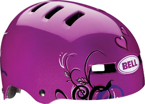 Bell 2014 Fraction Youth / Kids Cycling Helmet - Graphics (Purple Love Birds - XS)