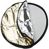 Dörr 5-in-1 30 cm runder Faltreflektor Set mit diffuser Bespannung inkl. Transportbeutel schwarz/weiß/gold/silber