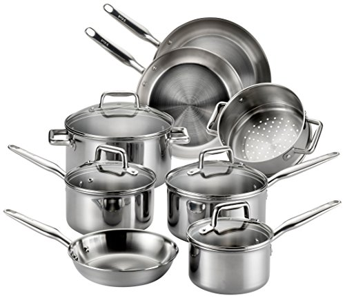 t-fal-e469sc-tri-ply-stainless-steel-multi-clad-dishwasher-safe-oven-safe-cookware-set-12-piece-silv