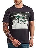 Hottribes Men's Cotton T-Shirt (FC130_Charcoal_XX-Large)