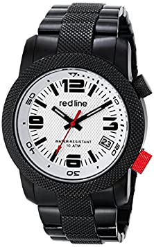 buy Red Line Men'S Rl-50043-Bb-22S Octane Analog Display Japanese Quartz Black Watch