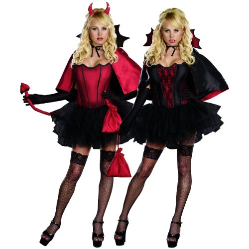 Devils Night W/Bite Reversible Women'S Costume- X-Large
