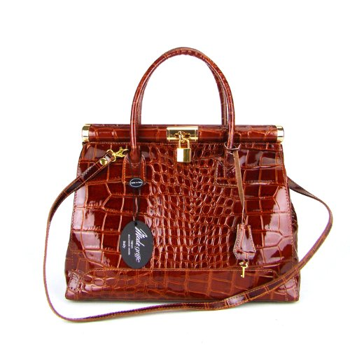 Croco print handbag