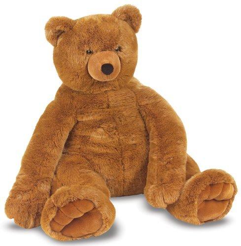 Melissa & Doug Jumbo Brown Teddy Bear Toy, Kids, Play, Children front-721634