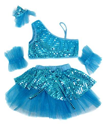 [Sparkle Sequin 2pcs Dance Dress Tutu Skirt Girl Costume for Athletic Ballet 1-8y (4-5year, peacock] (Dance Fantastic Costumes)