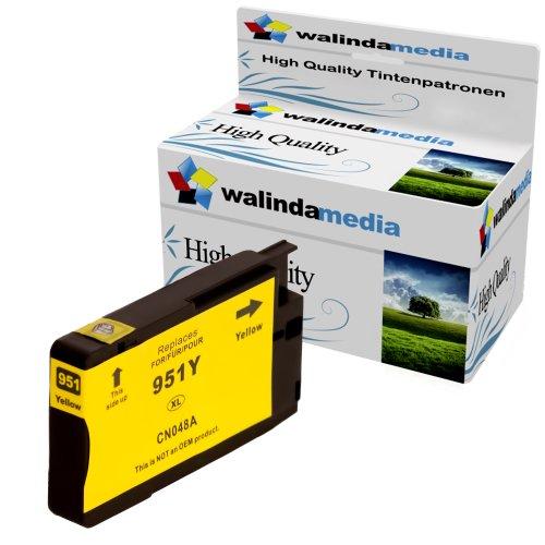 1x Druckerpatrone Ersatz für Hp 1x 951 XL Original Walindamedia Tinte Yellow, 1.500 Seiten Leistung Ersatz für Hp CN048AE ( 951 xl , HP 951 XL ) , Gelb